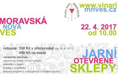 Jarní otevřené sklepy Moravská Nová Ves 2017